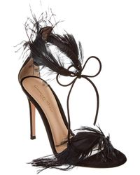 Gianvito Rossi Athena 105 Leather Sandal - Black