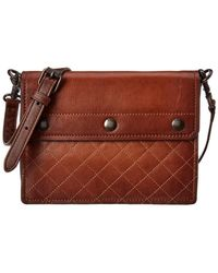 Frye - Samantha Quilted Leather Crossbody - Lyst