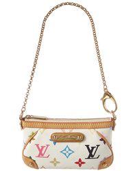 Louis Vuitton White Monogram Multicolore Canvas Pochette Milla - Multicolour