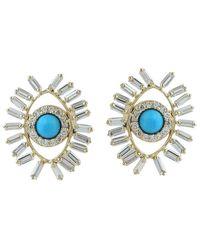 Artisan Nyc 18k 0.87 Ct. Tw. Diamond & Turquoise Earrings - Blue