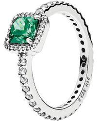 PANDORA Silver Cz Timeless Elegance Ring - Metallic