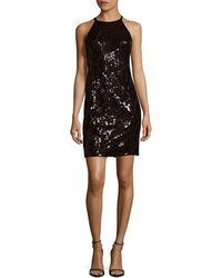 Calvin Klein - Black Sequin Dress - Lyst
