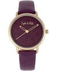 Sophie & Freda Breckenridge Watch - Purple