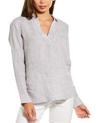 NYDJ Popover Linen Tunic - Grey