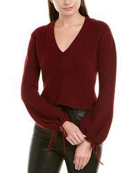 A.L.C. - Schwartz Wool & Cashmere Crop Sweater - Lyst