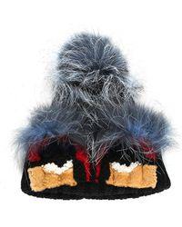 Fendi - Multicolor Mink & Shearling Fur Monster Hat - Lyst