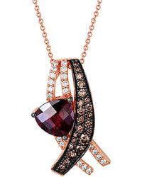 Le Vian - ® Chocolatier® 14k Rose Gold 4.08 Ct. Tw. Diamond & Rhodolite Necklace - Lyst