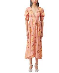 Keepsake Forever Midi Dress - Orange