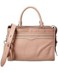 Rebecca Minkoff Bedford Zip Leather Satchel - Pink