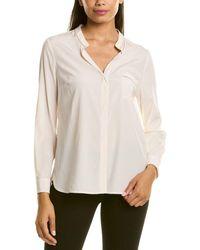 Peserico Ball Chain-trim Silk-blend T-shirt - White