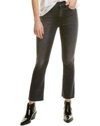 Brock Collection Mother Hustler Black Ankle Cut Jean