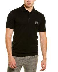 Dolce & Gabbana Dg Patch Polo Shirt - Black