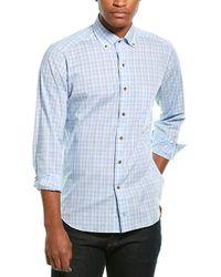 David Donahue Woven Shirt - Blue