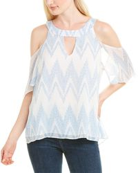Three Eighty Two Cohan Blouse - Blue