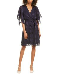 Adrianna Papell Jacquard Mini Dress - Blue
