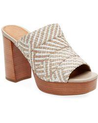 Frye - Katie Woven Platform Sandal - Lyst