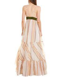Silvia Tcherassi La Piragua Silk Maxi Dress - White