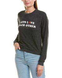 Spiritual Gangster Lets Love Graphic Jumper - Black
