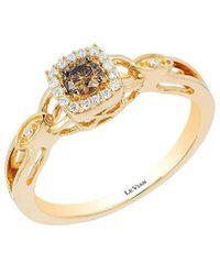 Le Vian ? Chocolatier? 14k Honey Gold? 0.22 Ct. Tw. Diamond Ring - Metallic
