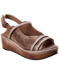 Antelope 429 Leather Wedge Sandal - Gray