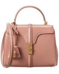 Celine Small 16 Leather Satchel - Pink