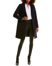 Cinzia Rocca Long Wool & Cashmere-blend Coat - Blue