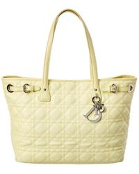 Dior Yellow Quilted Coated Canvas Panarea Tote