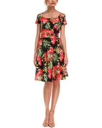 Aerin Silk-blend Dress - Red