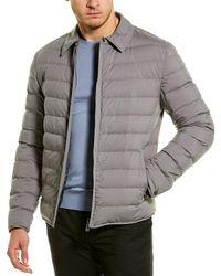 Canali Water-repellent Coat - Grey