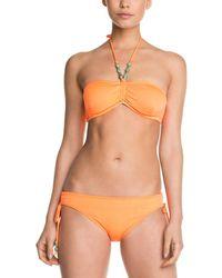 Shoshanna - Solid Neon Orange Beaded Bow Brief Bottom - Lyst