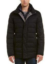 Cole Haan Quilted Down Coat - Blue