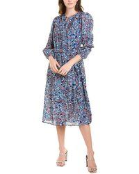Velvet By Graham & Spencer Beau Midi Dress - Blue