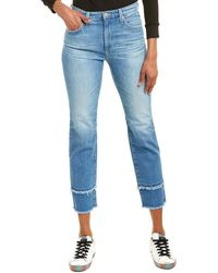 AG Jeans Isabelle 13 Years Awesome High-rise Straight Crop - Blue