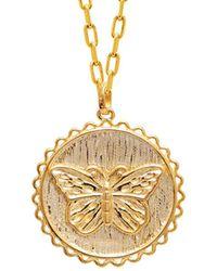 Gabi Rielle Gold Over Silver Necklace - Metallic