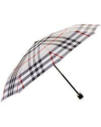 Burberry Check Folding Umbrella - Multicolour