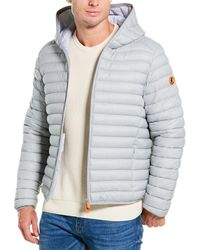 Save The Duck Hooded Puffer Jacket - Grey