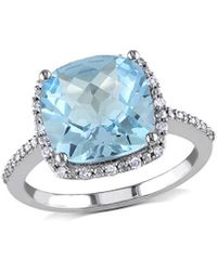 Rina Limor 10k 5.35 Ct. Tw. Diamond & Sky Blue Topaz Ring