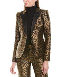 Prabal Gurung Fitted Silk-lined Blazer - Brown