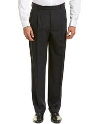 Brooks Brothers Madison Fit Wool-blend Trouser - Blue