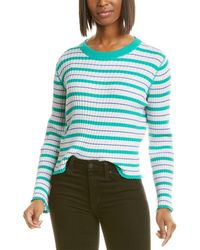 Autumn Cashmere Cotton By Ribbed Crop Top - Green