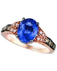 Le Vian ? 14k Rose Gold 2.03 Ct. Tw. Diamond & Tanzanite Ring - Blue