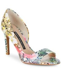 French Connection Open-toe Leather Pump - Multicolour