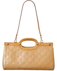 Louis Vuitton Beige Monogram Vernis Leather Roxbury Drive - Natural