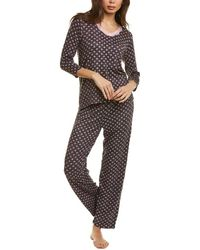 Rene Rofe 2pc Moonlight Dreams Pyjama Set - Grey