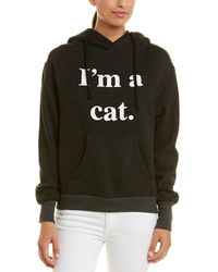 Wildfox Guess What I Am Cuddles Cat Hoodie - Black