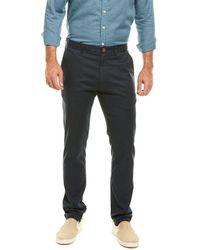 Grayers Slim Fit Linen-blend Pant - Blue