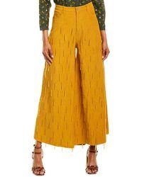 FARM Rio Beaded Corduroy Pant - Yellow