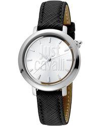 Just Cavalli Women's Logo Logomania Watch - Black