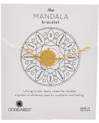 Dogeared Mandala Collection 14k Over Silver Bracelet - Metallic