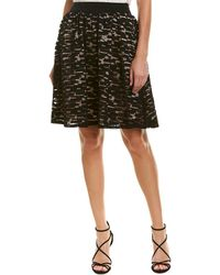 Trina Turk Amora Silk-trim A-line Skirt - Black